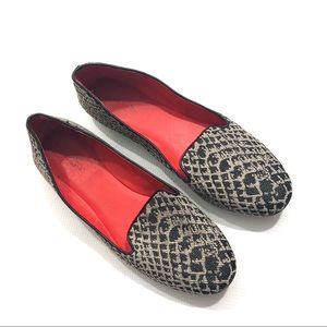 Coach Catrin Python Fabric Loafer